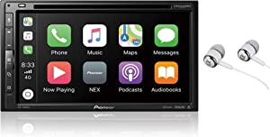 """Pioneer AVH-2500NEX Built-in Android Auto and Apple CarPlay Double DIN 6.8"""" Touchscreen In-Dash DVD/CD Car Stereo Receiver with Built-in HD Radio, WebLink, Pandora, Spotify / Free Alphasonik Earbuds"""