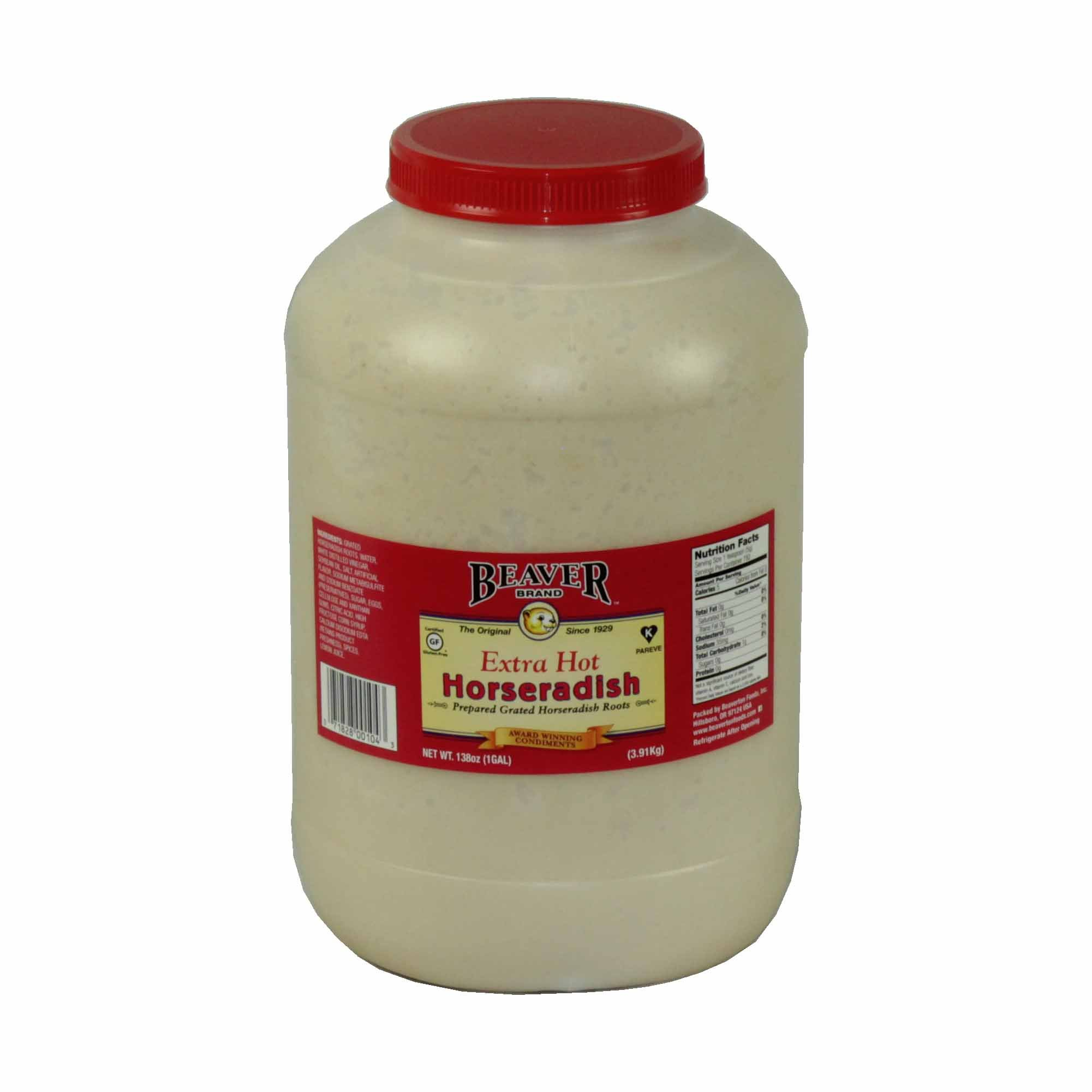 Beaver, Extra Hot Horseradish 1 Gallon (4 count)