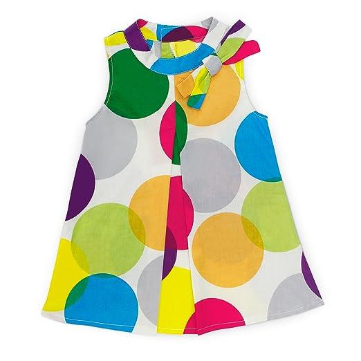 fc914c3f2a07 Amazon.com  Yaffi PatPat Toddler Baby Girls Dress Beautiful Bowknot Decor  Polka Dotted Sleeveless Dress  Clothing