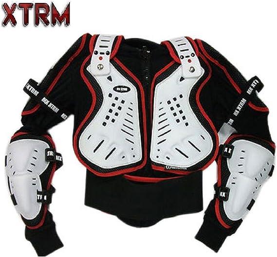 Motos Enfants Armure XTRM Enfant Corps Armor Vest Nouveau Motocross Quad MX Courses Hors-Piste Professionnel de Protection ATV Sport CE approuver Armure 10 ann/ées//L Noir