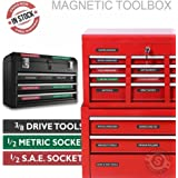 """Steellabels """"Magnetic""""Tool Box Organizer Labels organize boxes, drawers & cabinets """"Quick & Easy"""", fits all brands of 'Steel' tool chest Craftsman, Snap-on, Mac, Matco & Cornwell"""
