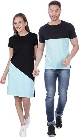 Amazon Com Melcom Cute Korean T Shirt Dress Combo For Couple Clothing