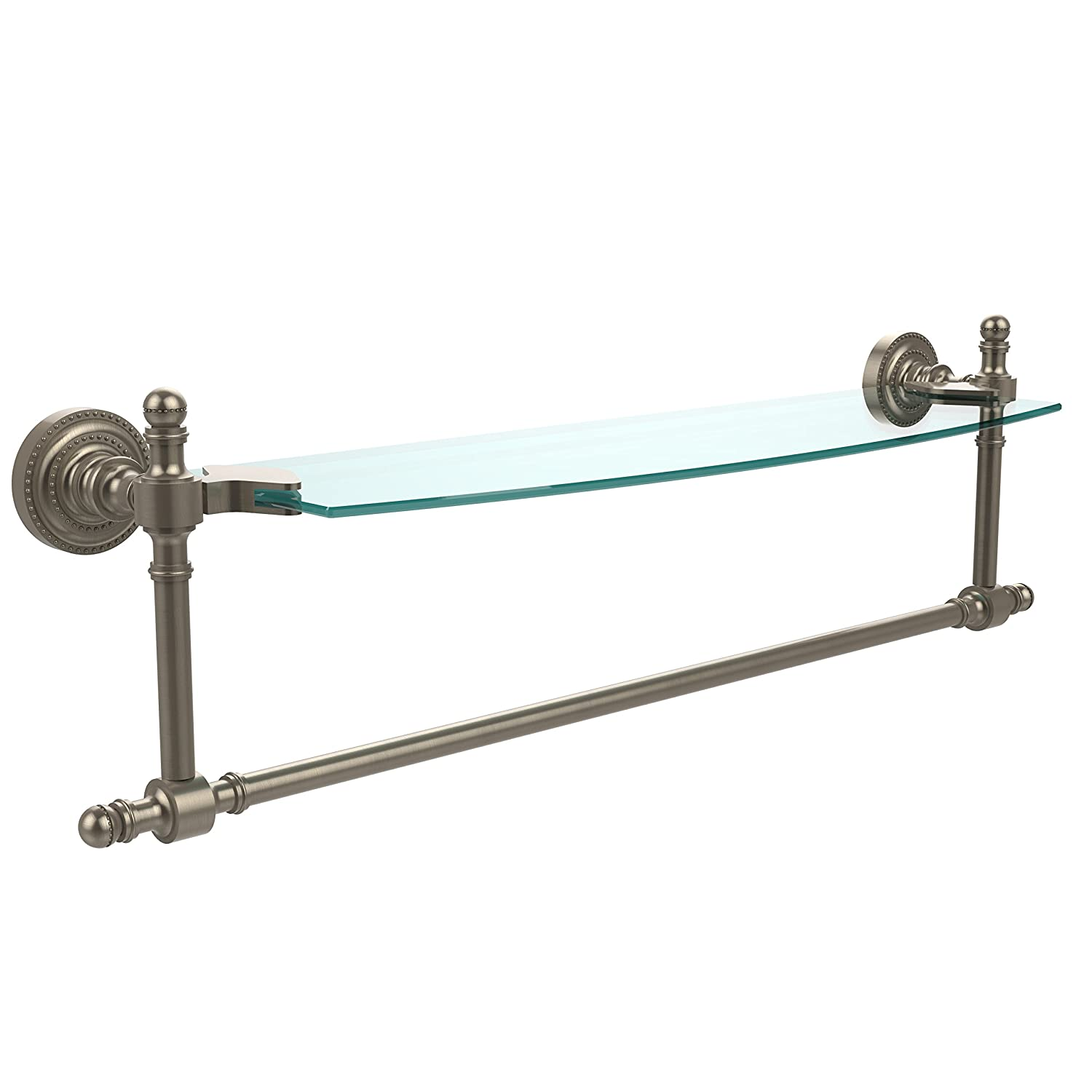 Allied Brass RD-33TB/18-PEW Retro-Dot 46cm X 13cm SINGLE GLASS SHELF WITH TOWEL BAR B004CNOJ7Q