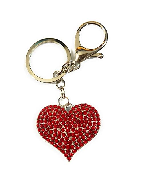 Amazon.com: SNG Heart Crystal Rhinestone Keychain Charm ...