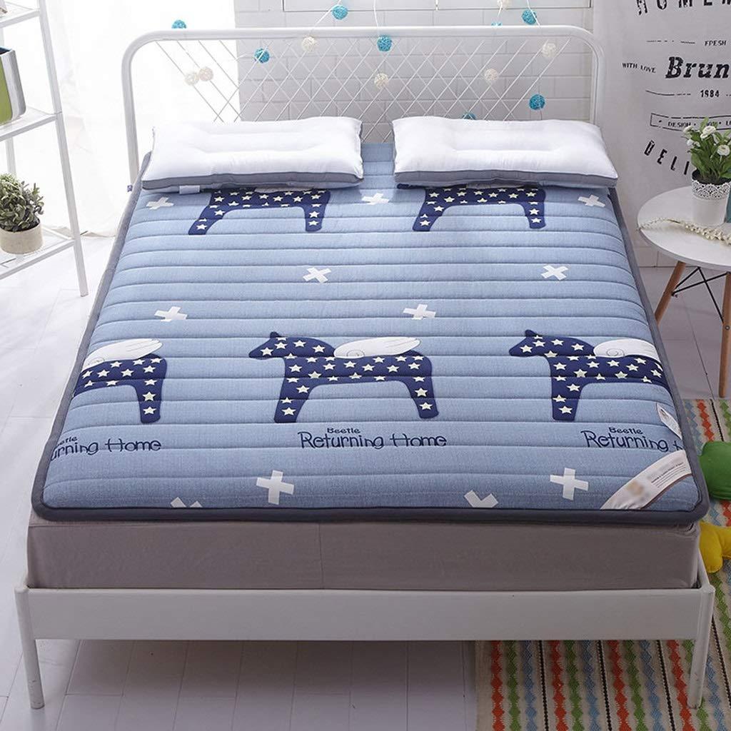 D 1.2×2m Mattress Breathable Tatami Floor Mat Double Futon Mattress Topper Portable Sleeping Pad Non-Slip Foldable Cushion Mats (color   D, Size   1.2×2m)