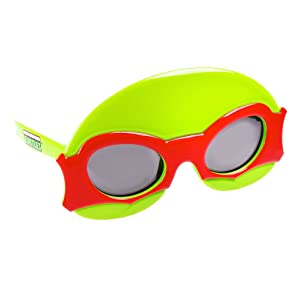 Sun-Staches Costume Sunglasses Ninja Turtle Lil' Characters Red Bandana Party Favors UV400