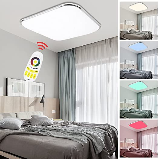 VINGO 24W lámpara Techo RGB Regulable Resistente al Agua lámpara ...