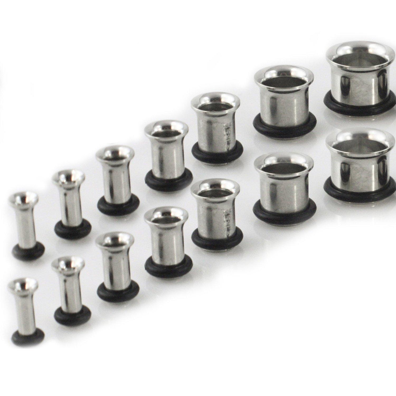 Gauge Gear 18 Piezas en Acero Inoxidable 316L Oído Medidores de túneles 1.6 mm-10 mm Kit Juego: Amazon.es: Hogar