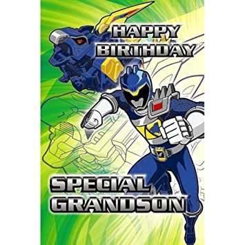 Special Grandson Power Rangers Birthday Card Amazon Toys Games