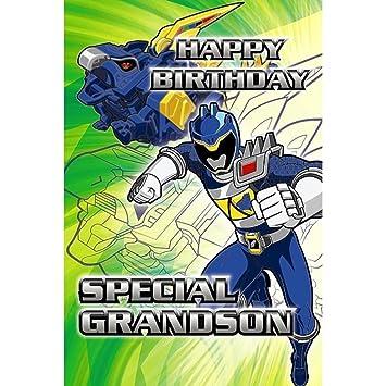 Power Rangers Greetings Card Grandson Birthday Amazon