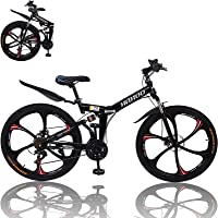First in order to save transport Folding Bicycle,Adult Womens Mens 20-Inch Variable Speed Adult Student Ultra Light Portable Bicycle,Adult Mountain Bike 7 Speed Mountain Bike Bicycle Friendly note