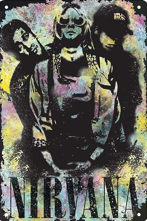 Snowae Poster Mural en m/étal en Aluminium Inoxydable r/ésistant aux intemp/éries Motif Chat Noir 30,5 x 40,6 cm
