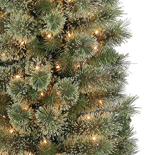 Home Heritage Stanley 7' Pencil Artificial Pine Slim Christmas Tree with Lights by Home Heritage (Image #1)