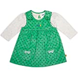 Mini Klub Girls top and Pinny Set with All Over Polka Print