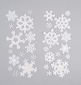 Premier Snowflake Window Sticker Set Brand New Fast Postage - Snowflake window stickers amazon