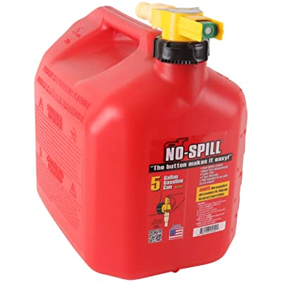 No-Spill 1450 5-Gallon Poly Gas Can (CARB Compliant): Garden & Outdoor