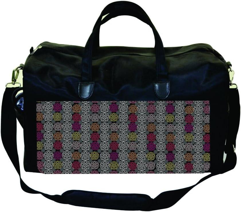 Elegant Ornate Floral Circles Gym Bag