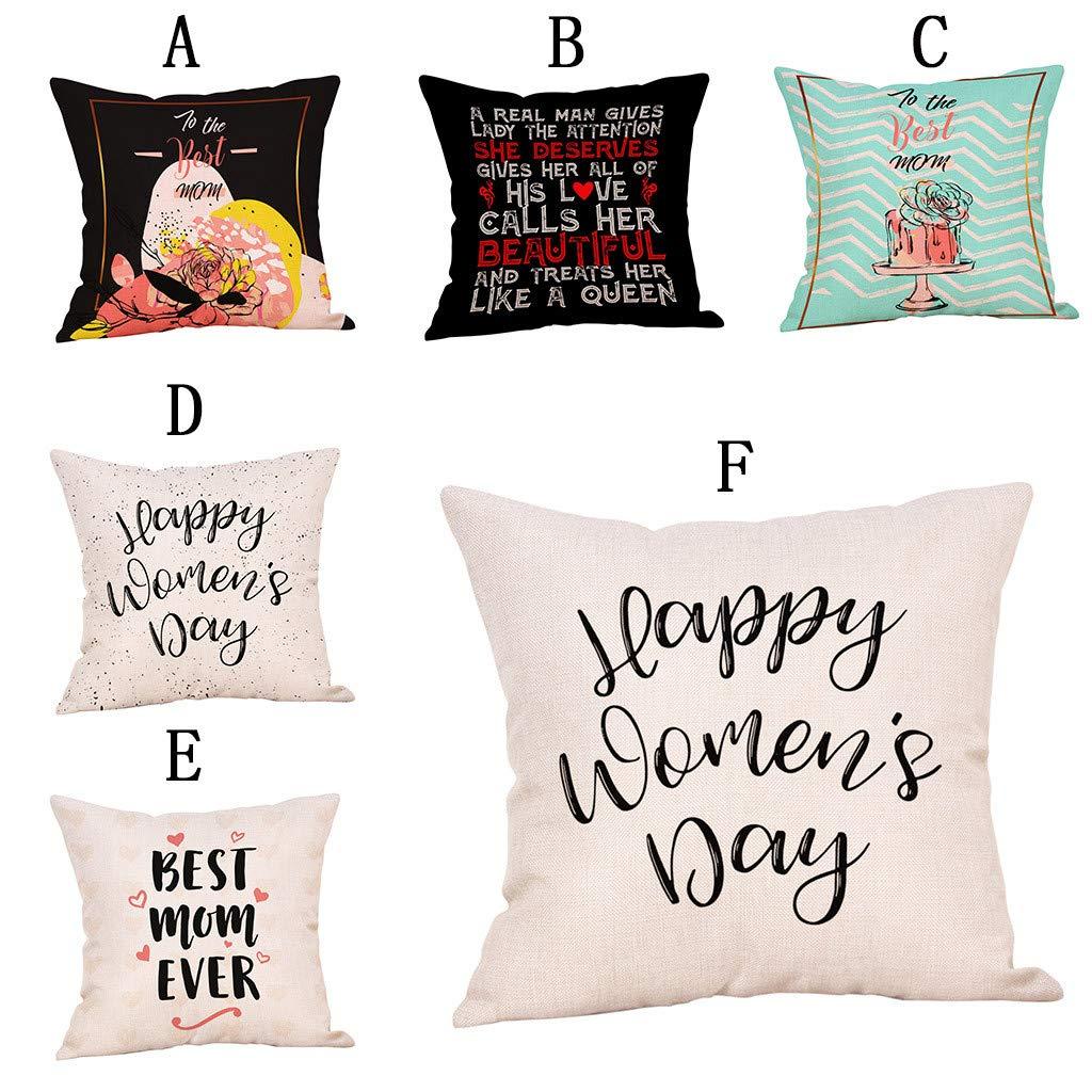 LNGRY Fundas de Almohada, Happy Womens Day To The Best Mom ...