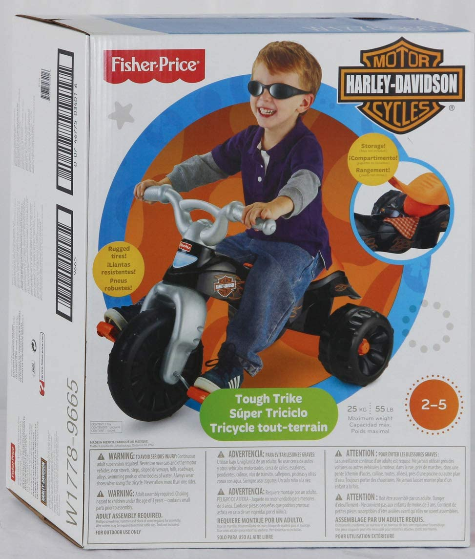 Amazon.com: Triciclo resistente de Fisher-Price, Negro: Toys ...