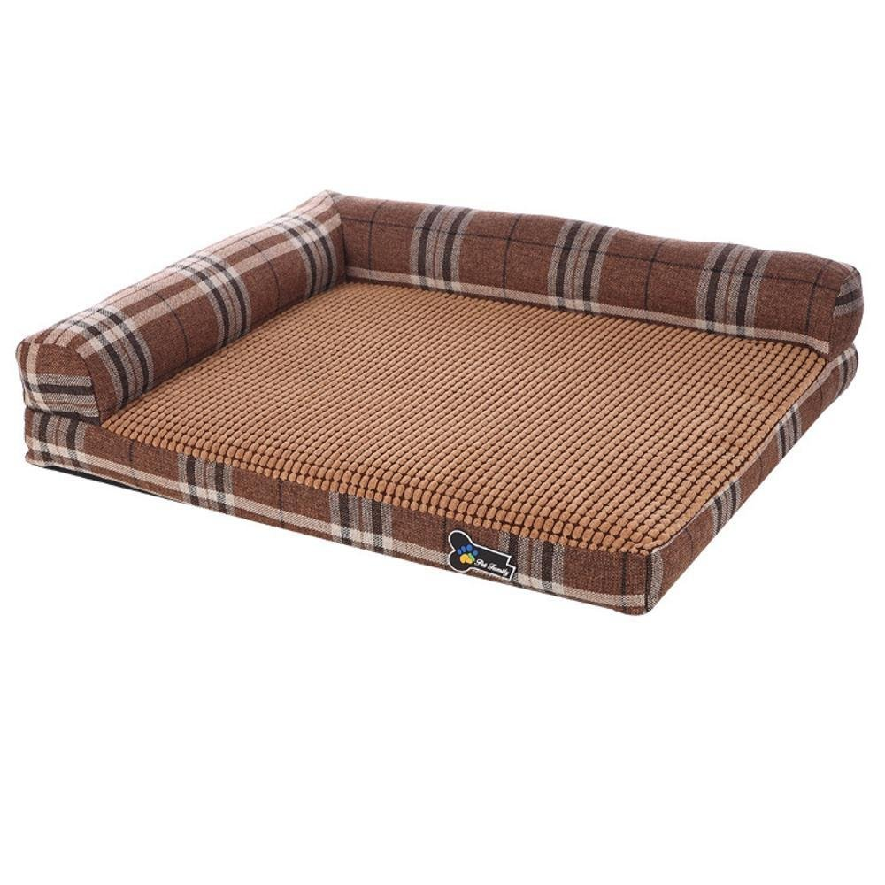 B WUTOLUO Pet Bolster Dog Bed Comfort Removable and washable square sofa bed dog bed Kennel cushion Four Seasons Pet Sofa (color   A)