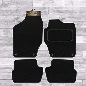 Car Van Truck Brand Name Q252:CT55 308 SW Vehicle Specific Car Mat Set in Black Carpet with Black Edge Trim Colour 4 Piece Peugeot 2013-2018