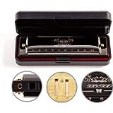 JSL Harmonica, Standard Diatonic Key of C 10 Holes 20 Tones Blues Mouth Organ Harp For Kids, Beginners, Professional…