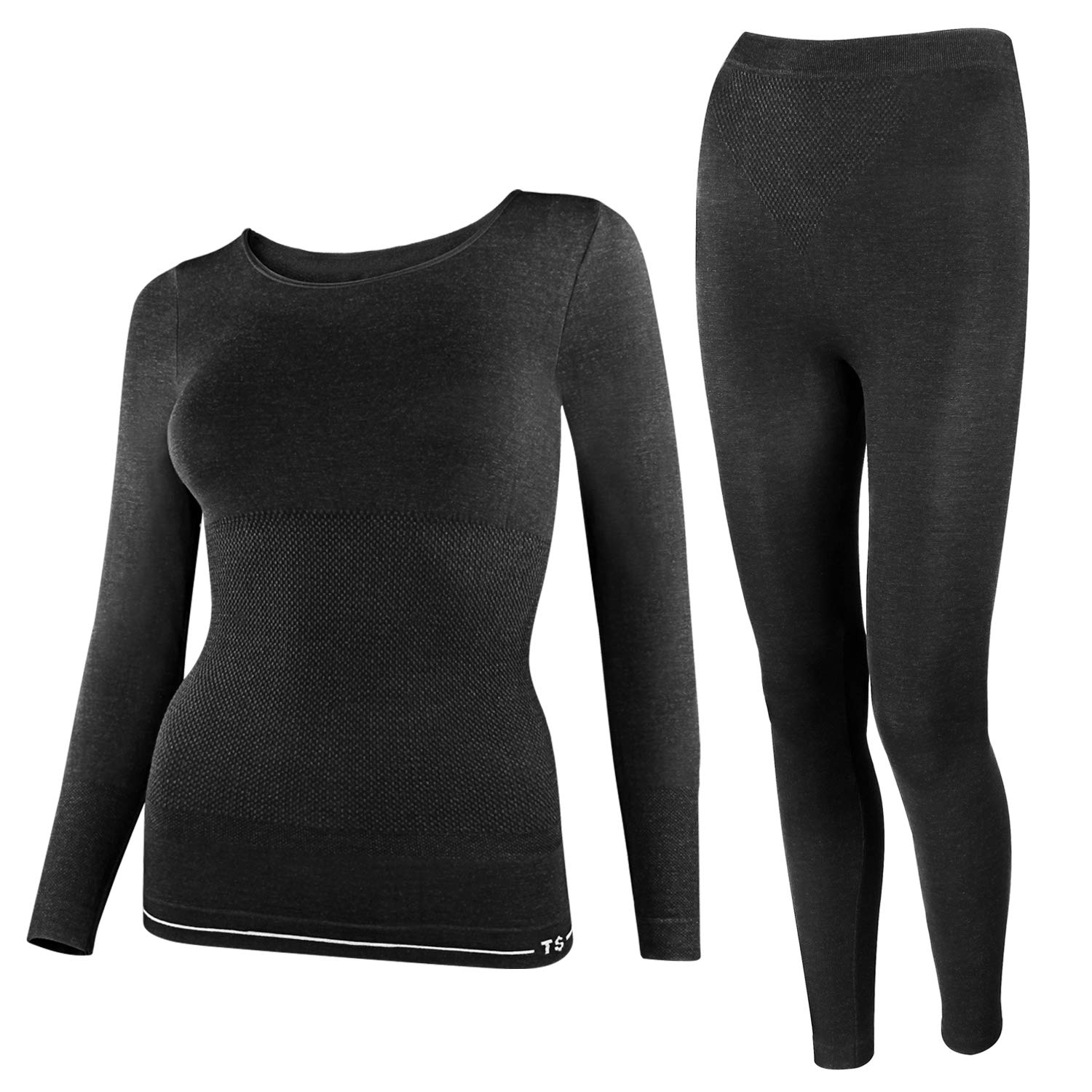 Cierto Womens Thermal Underwear set, Long Sleeve Top and Long Pants for Warm Body in Winter, 1 set