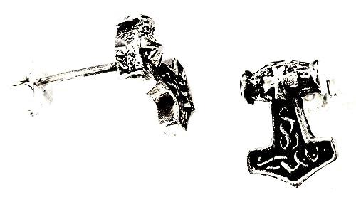Nr. 29: Thorshammer Ohrstecker aus 925 Sterling Silber