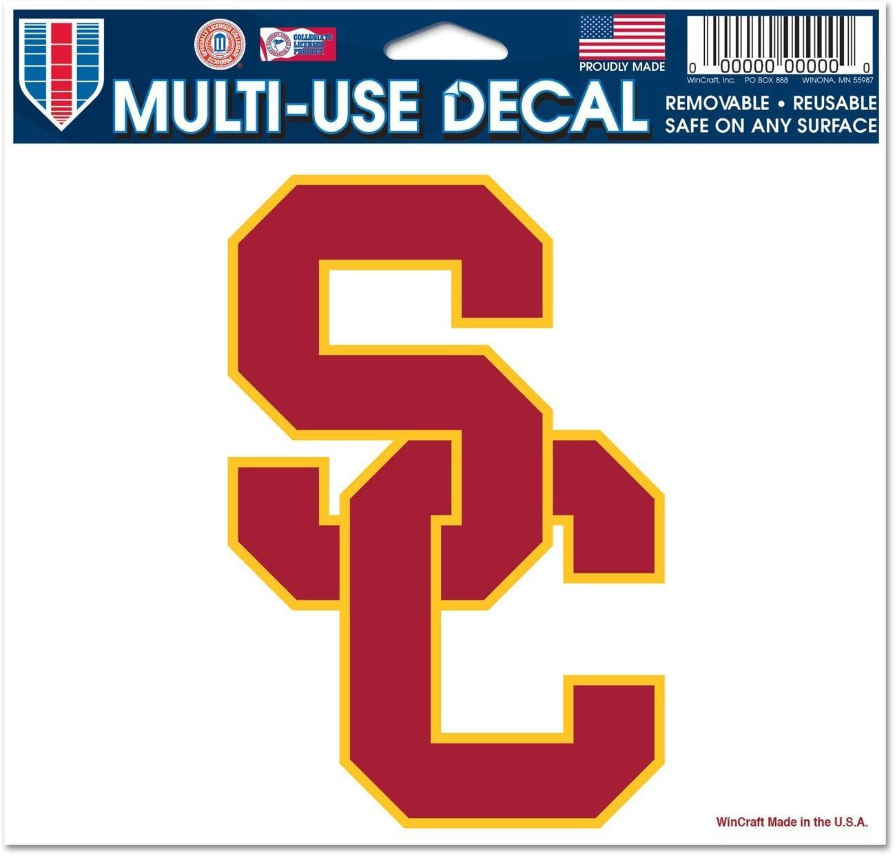 WinCraft NCAA Multi-Use Colored Decal