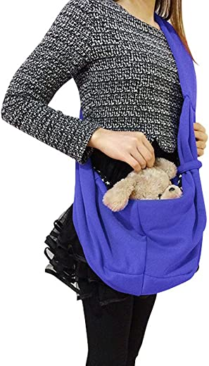 Holiberty Small Pet Dog Cat Carriers Bag Travel Totes Soft Pure Cotton Comfortable Puppy Kitty Rabbit Guinea Pig Hands-free Reversible Pouch Single Shoulder Pets Sling Carrier Tote Bag
