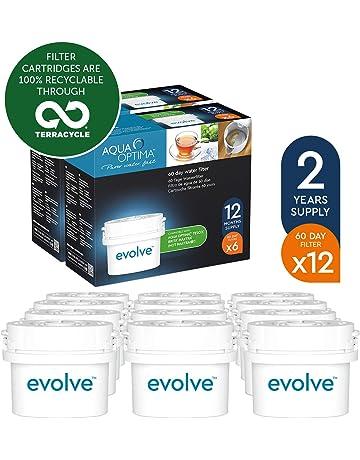 Aqua Optima EVD912 Evolve - Paquete de 2 años, filtros de agua de 12 x