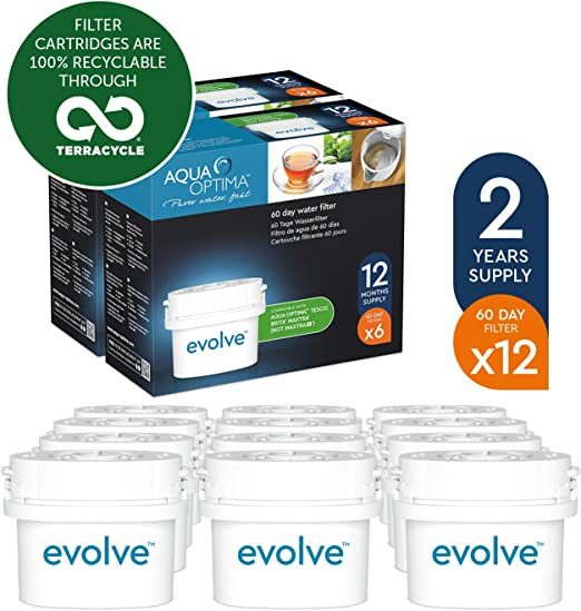 1 Aqua Optima  60-Day Water Filter fits BRITA CLASSIC Refill Cartridge