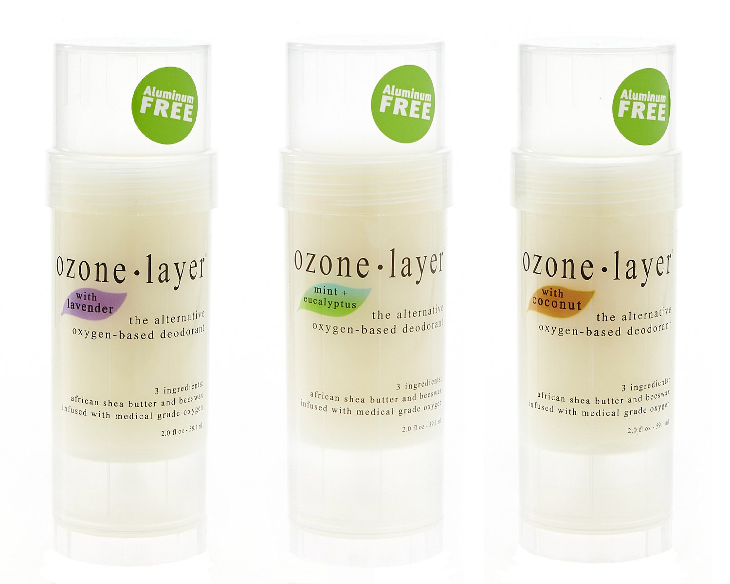 Ozone Layer Deodorant - The All Natural Oxygen Based Deodorant (Most-Popular 3-Pack)
