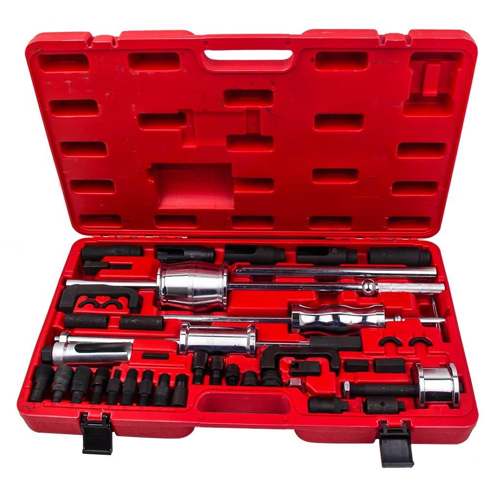 maXpeedingrods 40 Pieces Truck Diesel Injector Extractor Slide Hammer Puller Extractor Complete Set,Universal MASTER Kit