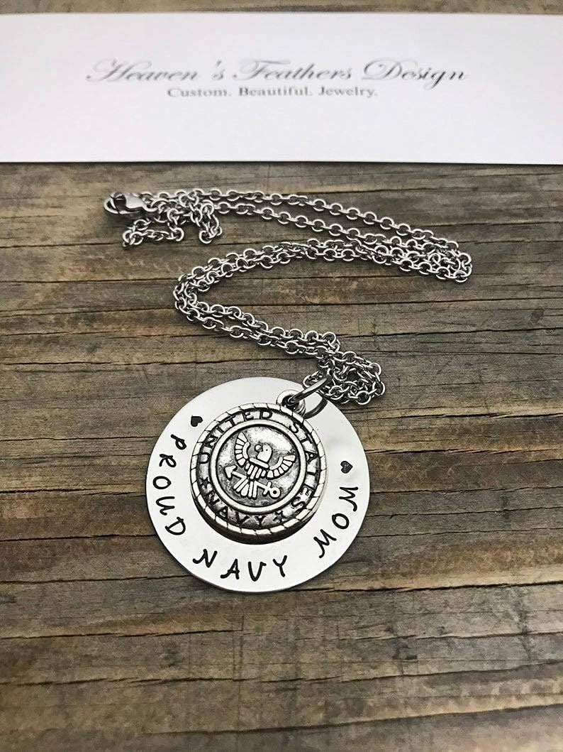 Custom Charm Necklace Wavy Charm Hypoallergenic Stamped Jewelry