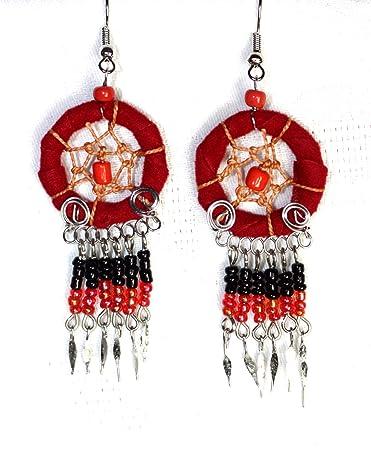 NEU Indianer Ohrschmuck Paar Traumfänger 25mm. Ring Silberdraht ...