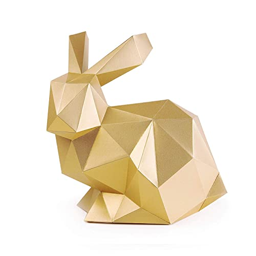 Amazon Com Paperraz Gold Rabbit Sculpture 3d Animal Puzzle Craft