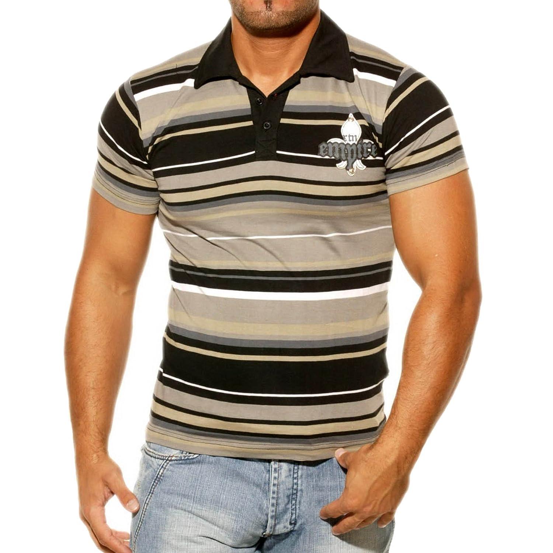 Rusty Neal Herren Kurzarm T-Shirt Poloshirt Polo Hemd Style Türkis//Schwarz 3191