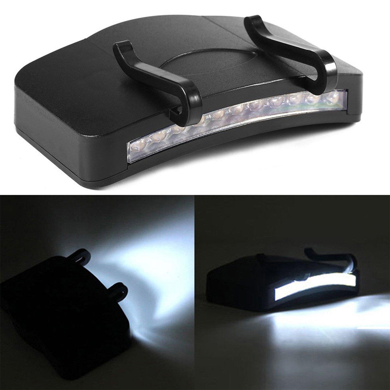 Frontlichter Scheinwerfer Schirmmütze Stirnlampe mit Super Hell 11 LEDs für Outdoor Camping Angeln Wandern Jogging, Schwarz SZSMART