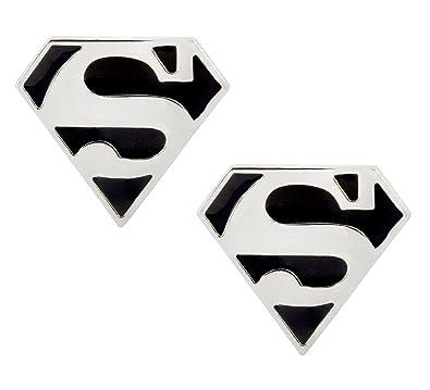 Buy The Jewelbox Formal Shirt Superman Logo Black Enamel Silver