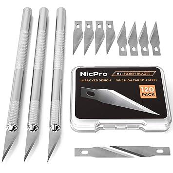 Amazon.com: Nicpro Hobby Exacto - Juego de cuchillos: Arte ...