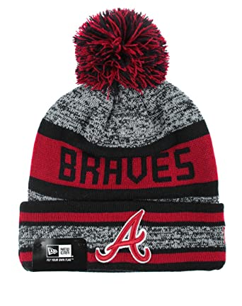 9683227167de9 New Era MLB Atlanta Braves Block Word Knit Hat: Amazon.co.uk: Clothing