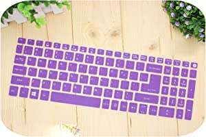 15.6 inch Silicone Keyboard Cover Protector for Acer Aspire E15 E 15 E5-576 E5576 V3 V15 E5-553G/575G / Aspire 3 5 7 Series-Purple-