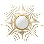Formosa Gold Sunburst Round Wall Mirror