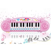 Popsugar Mini Muscial Keyboard with 24 Keys for Kids, Pink