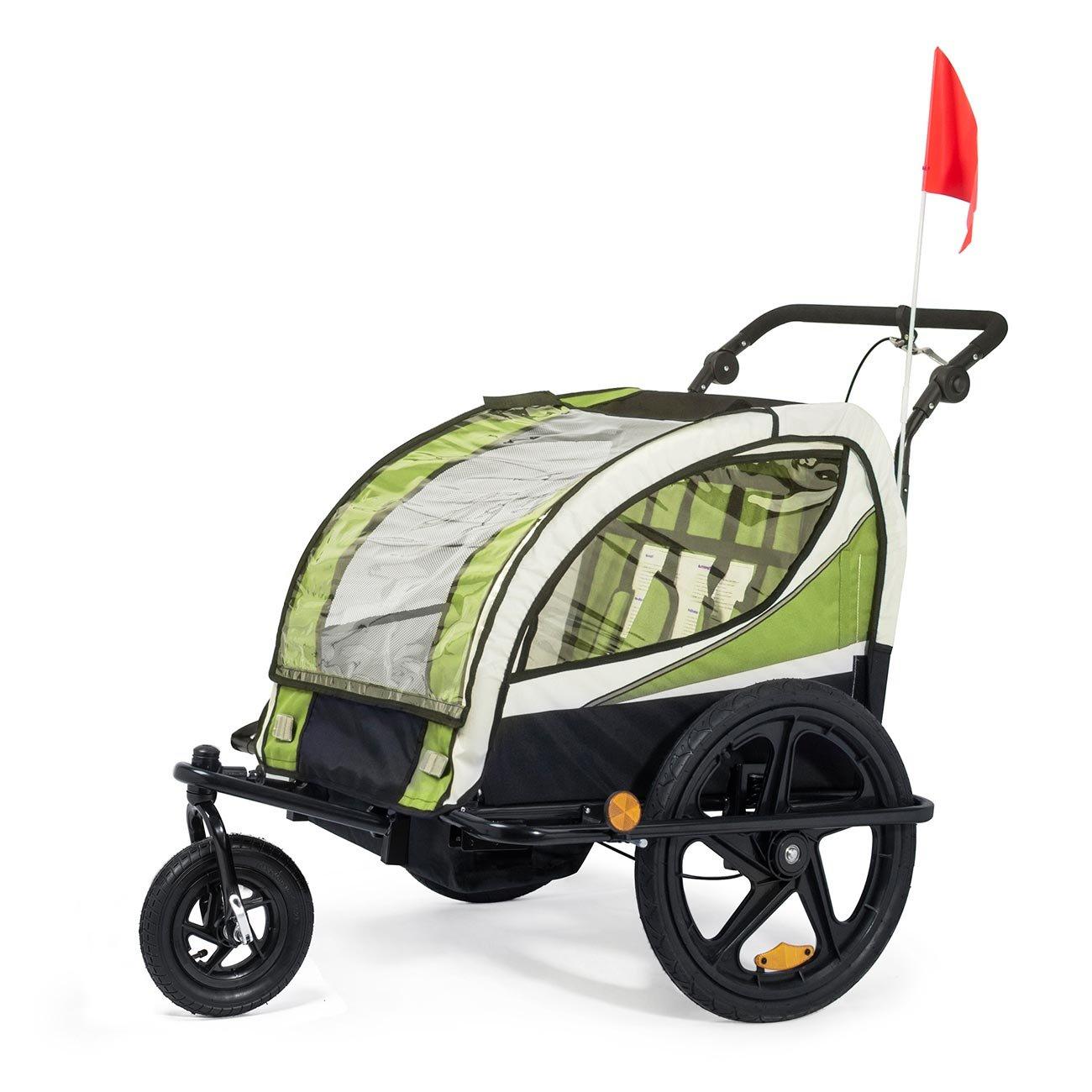 SAMAX Children Bike Trailer 2in1 Kids Jogger Stroller with ...