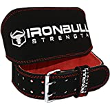 Weight Lifting Belt - 6-inch Padded Leather Weight Belt - Heavy Duty And Comfortable Back Support For Heavy Weightlifting, Crossfit and Fitness