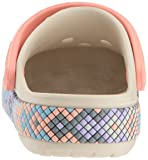 Crocband unisex Gallery Clog K Stucco/Melon, 6 M US Toddler