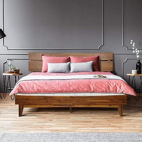 Acacia Aurora 14 Inch Wood Platform Bed Frame