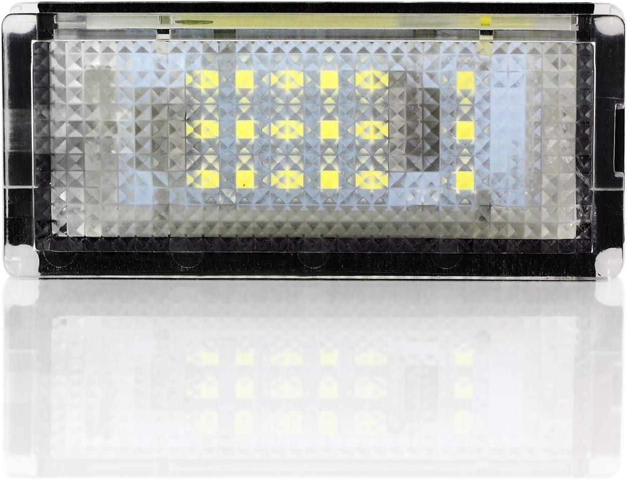 AUTOUTLET 2 Pezzi LED Numero Targa Luce Xeno Bianco per BMW Serie 3 E46 4D 98-03 18LED